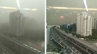La tormenta en Gurgaon