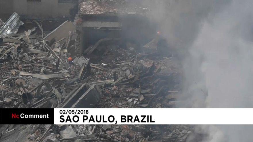Сан-Паулу: поиски выживших на месте сгоревшей высотки