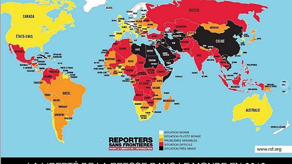 حرية الصحافة ونسبتها في دول العالم