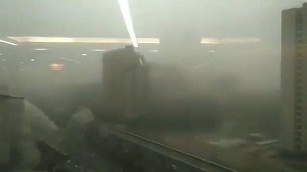 Halálos homokvihar Indiában