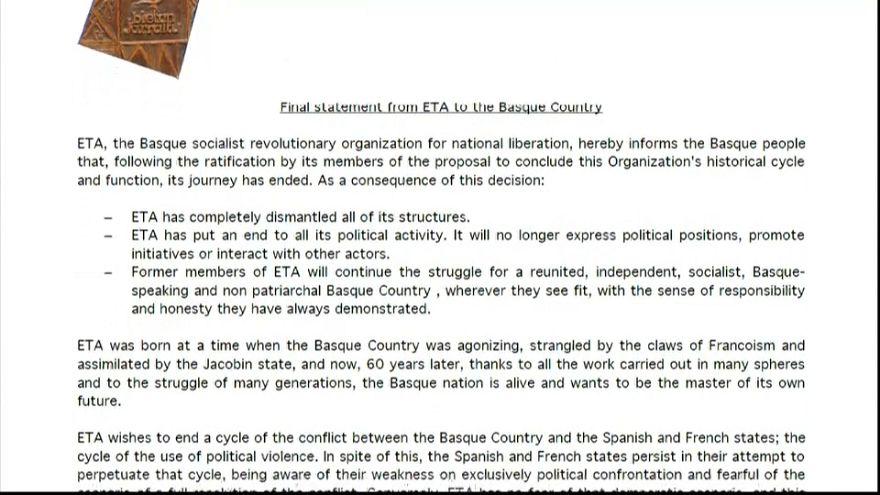 ETA: 28 righe per spiegare la fine di un'epoca