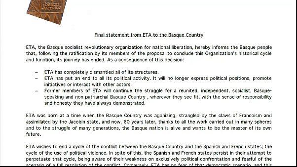 60 Jahre und über 850 Tote später - das Ende der baskischen ETA