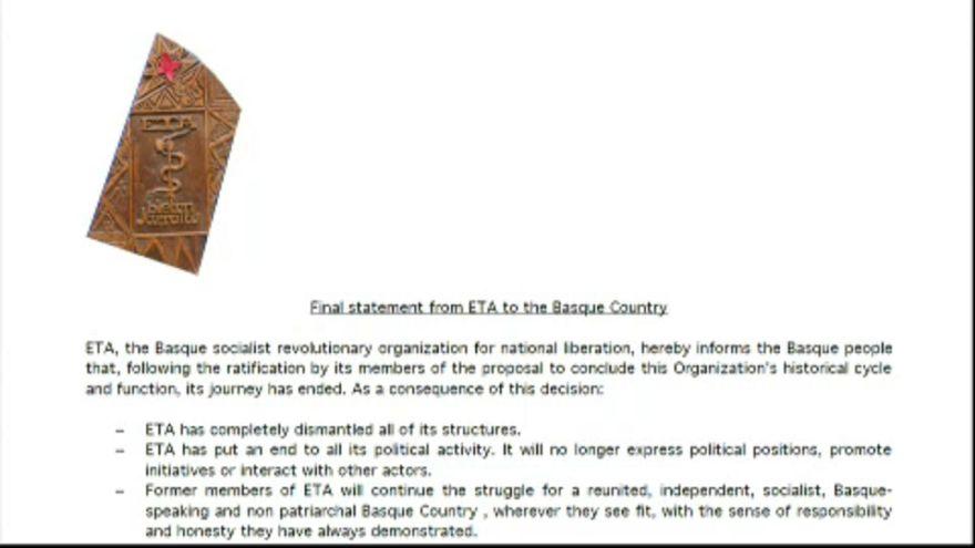Fim da ETA já é oficial