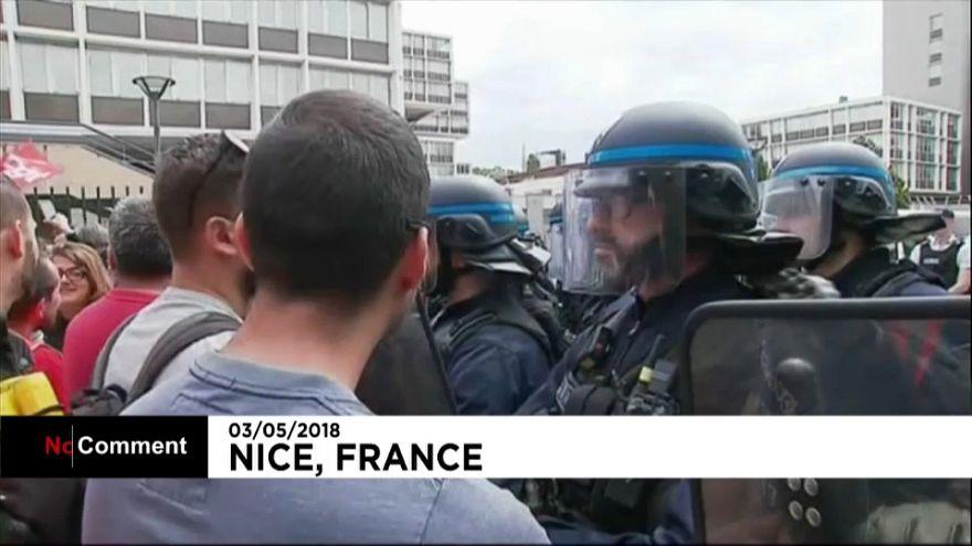Полиция против железнодорожников
