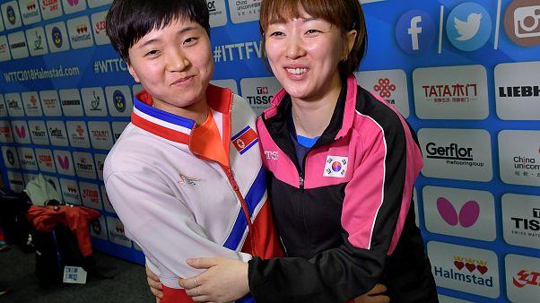 Lua-de-mel entre Coreias chega ao Ténis de Mesa