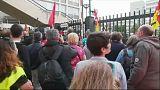 درگیری کارگران راه آهن فرانسه با پلیس شهر نیس