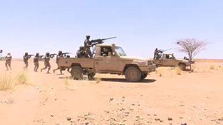 Militares do Níger em exercícios