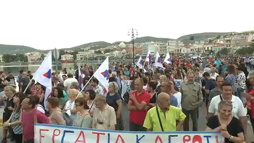 Ciprasz ellen tüntettek Leszboszon