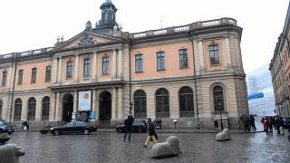 The old Stock Exchange Building, home of the Swedish Academy in Stockholm