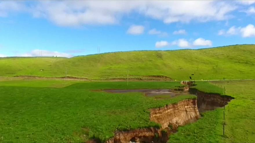 Sinkhole is 200m long and up to 30m wide