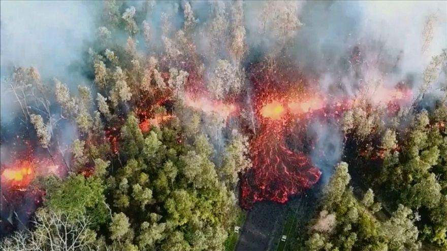 Miles de hawaianos huyen de la furia del volcán Kilauea
