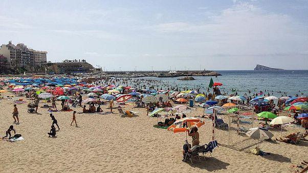 Der spanische Badeort Benidorm, ein beliebtes Touristenziel