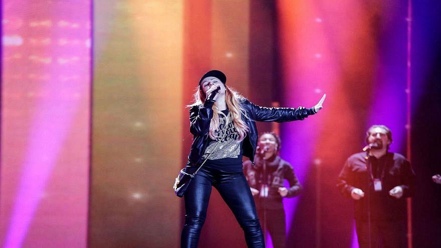 Valentina Monetta durante le prove dell'Eurovision 2017