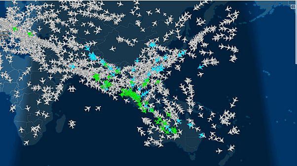 ما هي أكثر المسارات الجوية إزدحاما في العالم؟