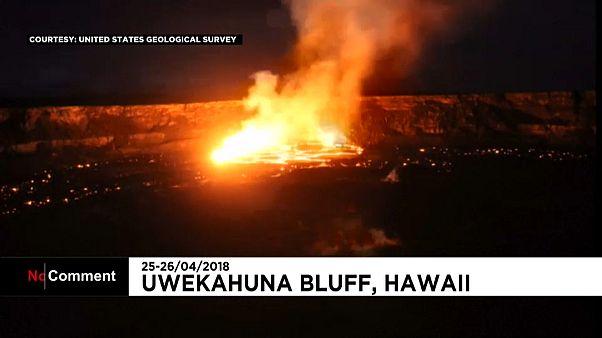 Извержение вулкана: ускоренная съемка