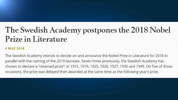 No habrá Nobel de Literatura este año