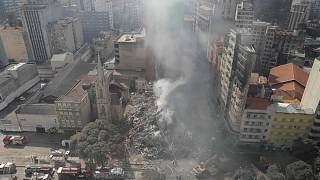 Curto-circuito provocou incêndio em prédio de São Paulo