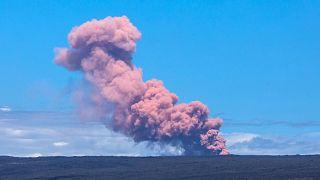 Vulcão em atividade no Hawai