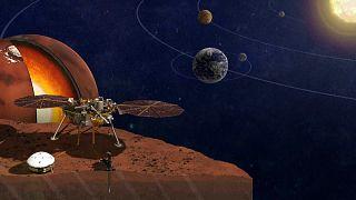 """Am 26. November 2018 soll """"InSight"""" auf dem Mars landen."""