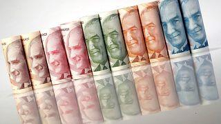 هبوط قياسي لليرة التركية بسبب ارتفاع التضخم
