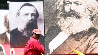 Bild von Karl Marx in Sri Lanka