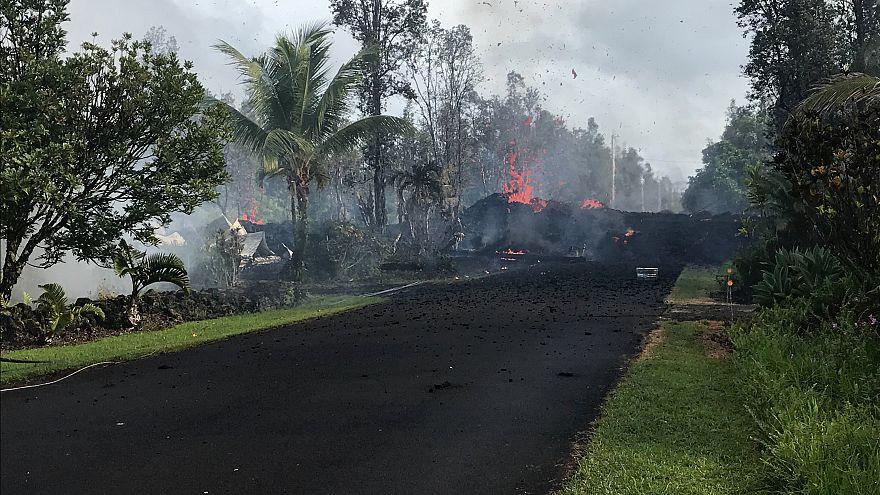 شاهد: لحظات فزع السكان أثناء زلزال هاواي