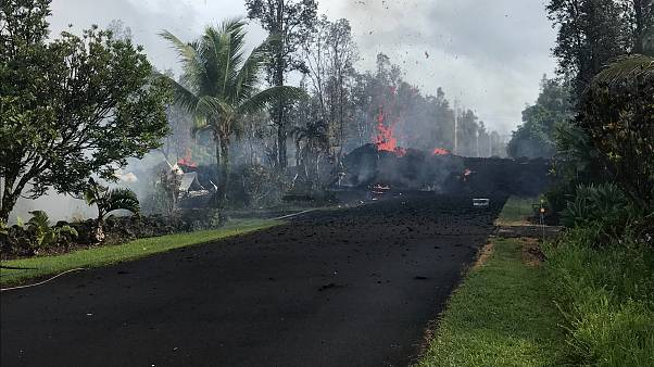 Hawaii: Vulkan Kilauea spuckt Lava bis in 30 Meter Höhe