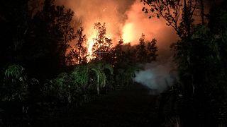 Erupção de vulcão prega grande susto no Havai