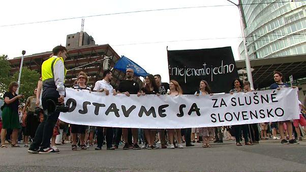 Slovakya'da hükümet karşıtı gösteriler