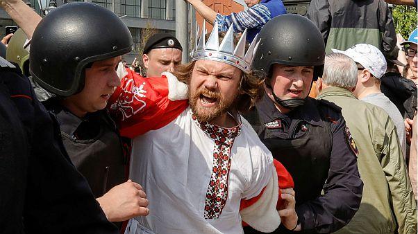 دستگیری گسترده معترضان در جریان تظاهرات ضد پوتین