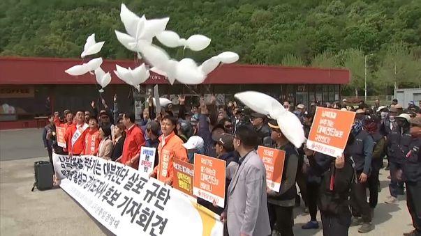 Tensiones por el envío de panfletos a Corea del Norte