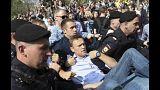 القبض على المعارض الروسي نافالني خلال احتجاجات بموسكو