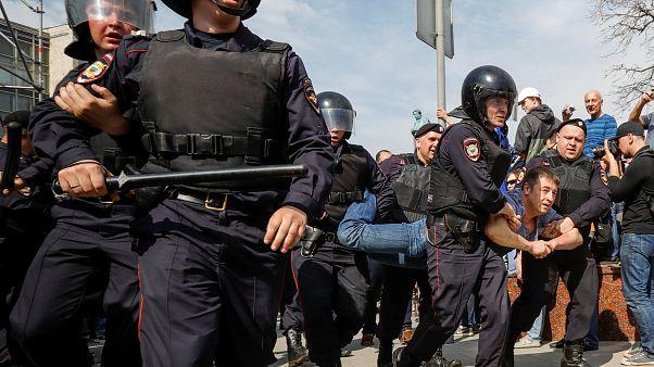 Russia, proteste contro Putin: oltre mille fermati