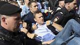 Detenido el opositor ruso Navalni durante la protesta contra Putin