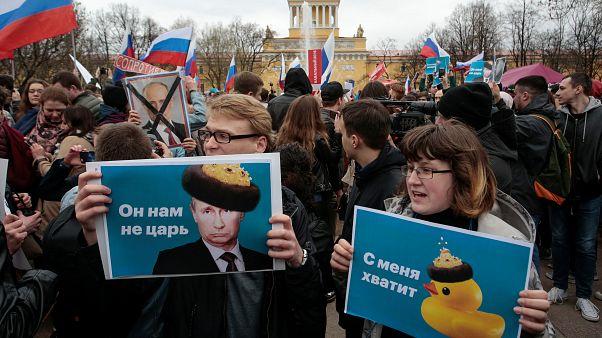 Μαζικές διαδηλώσεις κατά Πούτιν στη Ρωσία