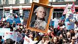 Dezenas de milhares protestam em Paris contra reformas de Macron
