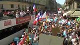 Tüntetés Macron ellen