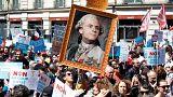 Görev süresinin ilk yıldönümünde Macron'a Paris'te dev protesto