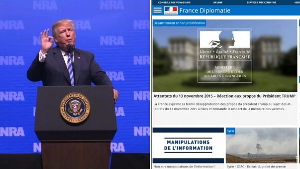 Francia indignada con Donald Trump