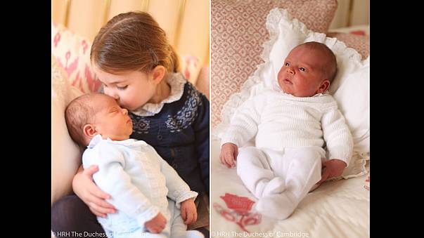 Britain's royals release first official pictures of Prince Louis