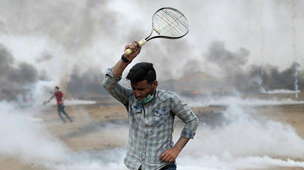 راکت تنیس؛ روش مقابله فلسطینیها با سربازان اسرائیلی
