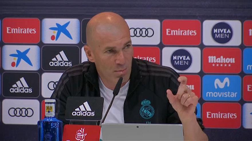 Conferência de imprensa de Zinedine Zidane antes do jogo com o Barcelona