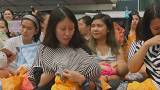 Hong Kong mothers stage breastfeeding flashmob in protest