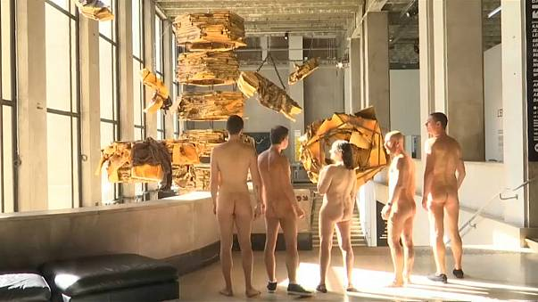 Nudists at Paris's Palais de Tokyo contemporary art museum