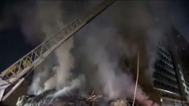 Zárlat miatt gyulladhatott ki a brazíliai toronyház