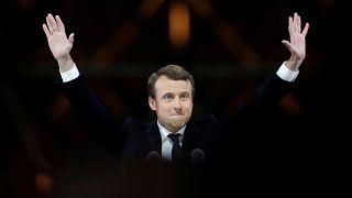 Emmanuel Macron in der Wahlnacht