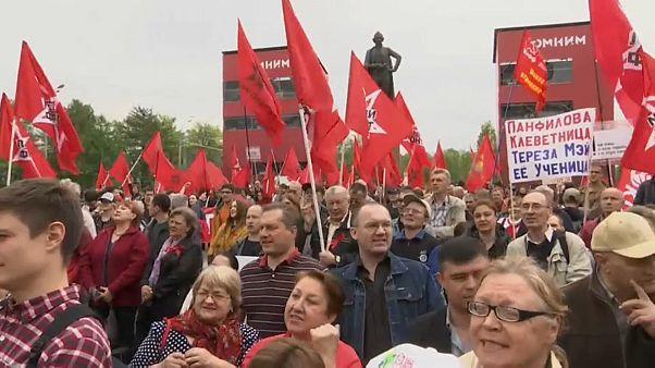 В Москве протестуют левые