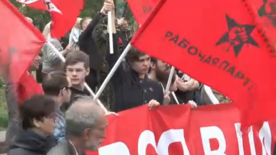 Putyin ellen tüntetett a Baloldali Front