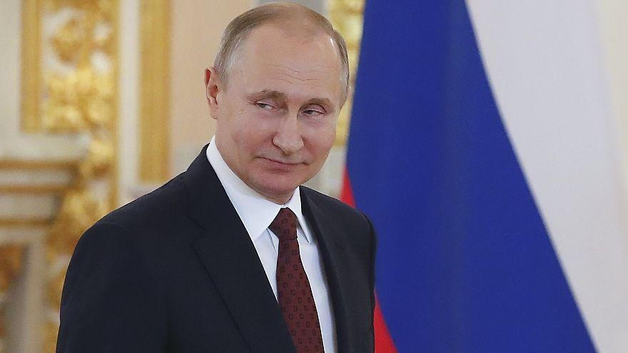 Putin bei einer Zeremonie in Moskau