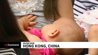 Hong Kong : un flashmob en faveur de l'allaitement maternel en public